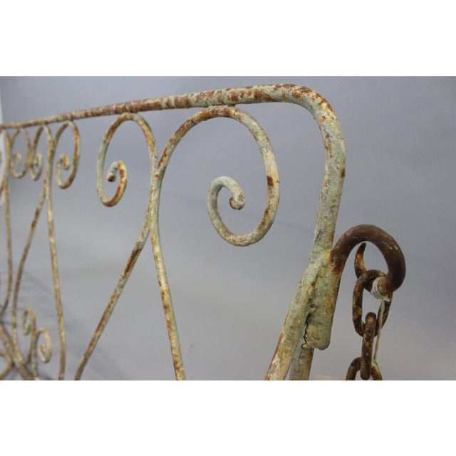 Metal 1880 English Iron Garden Swing For Sale - Image 7 of 7