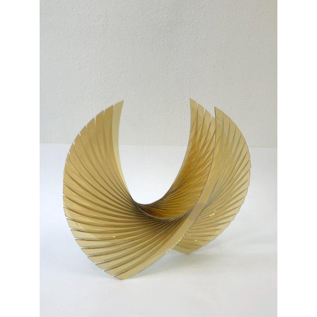 Modern Amber Glass Sculpture by Tom Marosz For Sale - Image 3 of 11