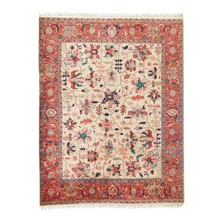 Vintage Traditional Oushak Style Pakistani Rug Carpet For Sale