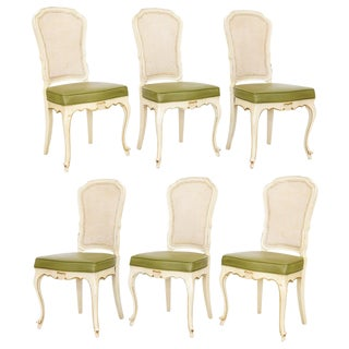 Caned-Back Side Chairs, Set of 6