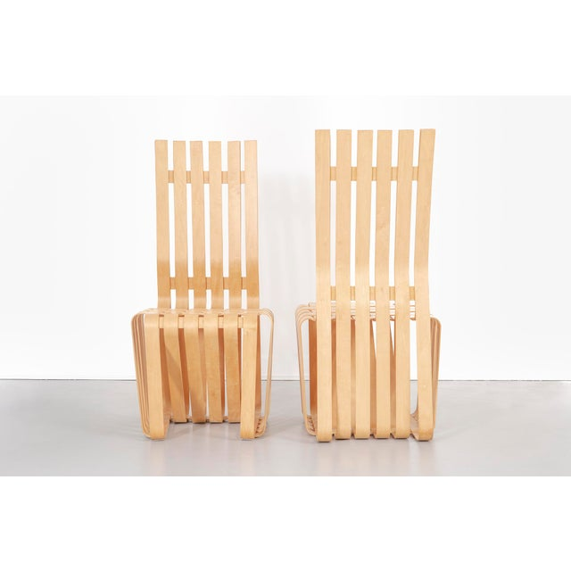 Knoll Set of Six Frank Gehry High Sticking Chairs For Sale - Image 4 of 13