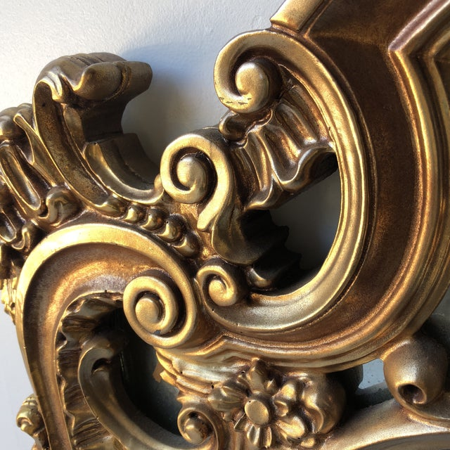 Rococo Gilded Wall Mirror For Sale - Image 4 of 6