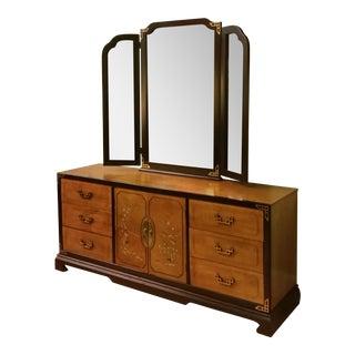 Bassett Chinoiserie Long Dresser With Mirror