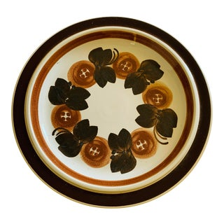 Arabia Finland Anemone Platter Charger Brown Anemone Ceramic Serving Dish For Sale