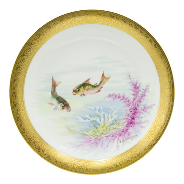 French Victorian Porcelain Dinner Plates - Set of 12 For Sale