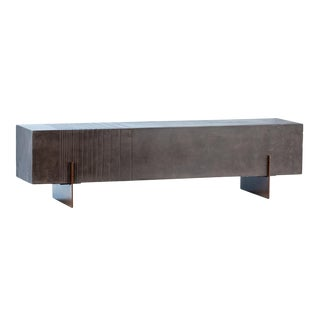 Modern Concrete & Steel Bench For Sale