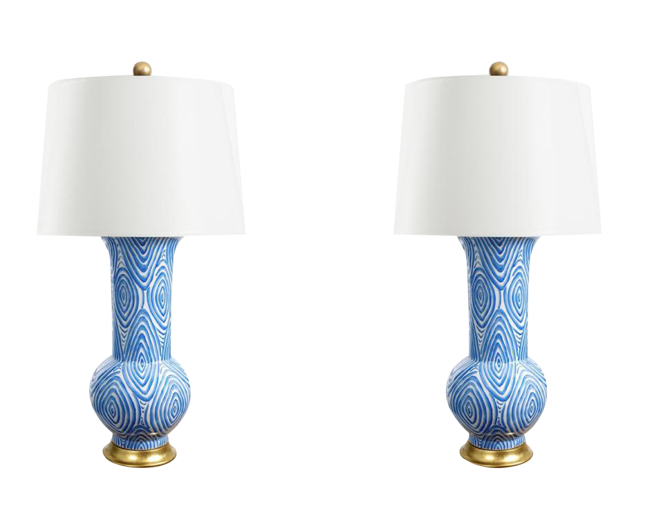 Attractive Twig Table Lamps   A Pair