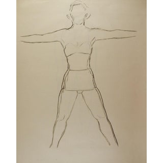 Line Drawing Figure Study 1950's For Sale