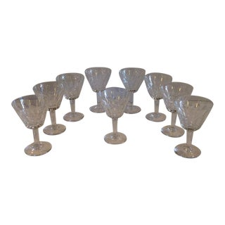 Baccarat Cordial Glasses - Set of 9 For Sale
