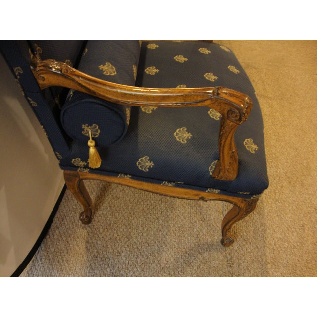 Custom Louis XV Style Arm Chairs- A Pair - Image 3 of 8