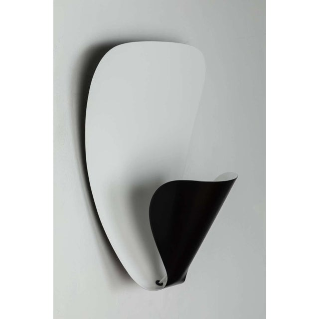 Metal Michel Buffet 'B206' Black and White Wall Lamp For Sale - Image 7 of 11