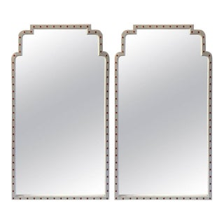 Parzinger Style Mirrors with Jeweled Surround - A Pair