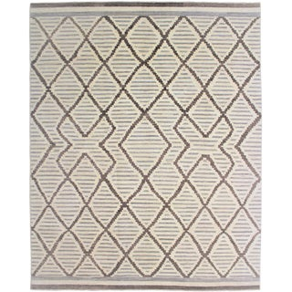 Aara Rugs Hand Knotted Navajo Style Rug- 10′4″ × 12′1″ For Sale
