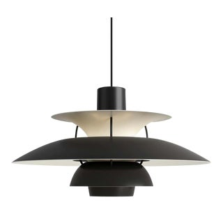 Poul Henningsen Ph5 Mini Pendant for Louis Poulsen in All Black For Sale