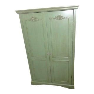 Green Shell Motif Wardrobe For Sale