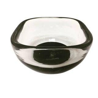 Venini Clear & Black Bowl
