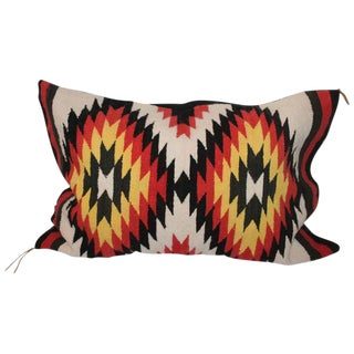 Navajo Indian Weaving Eye Dazzler Bolster Pillow For Sale