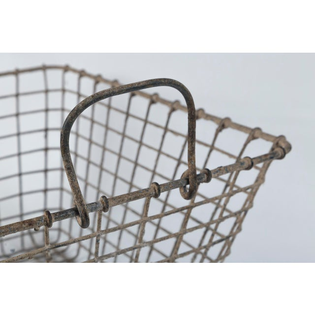 Metal 20th Century French Oyster Baskets - a Pair For Sale - Image 7 of 11