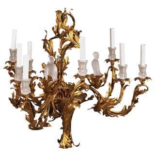 Unusual Gilt Chinoiserie Chandelier For Sale