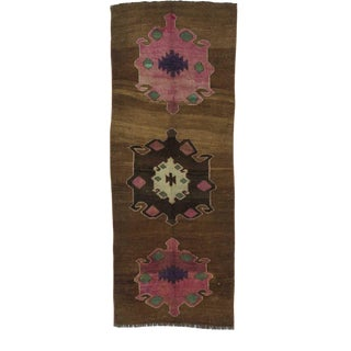 Vintage Anatolian Brown Runner For Sale