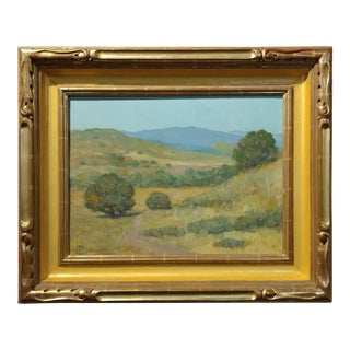 Frank Coburn - Beautiful California Impressionist Landscape -Oil painting Oil painting on board -Signed