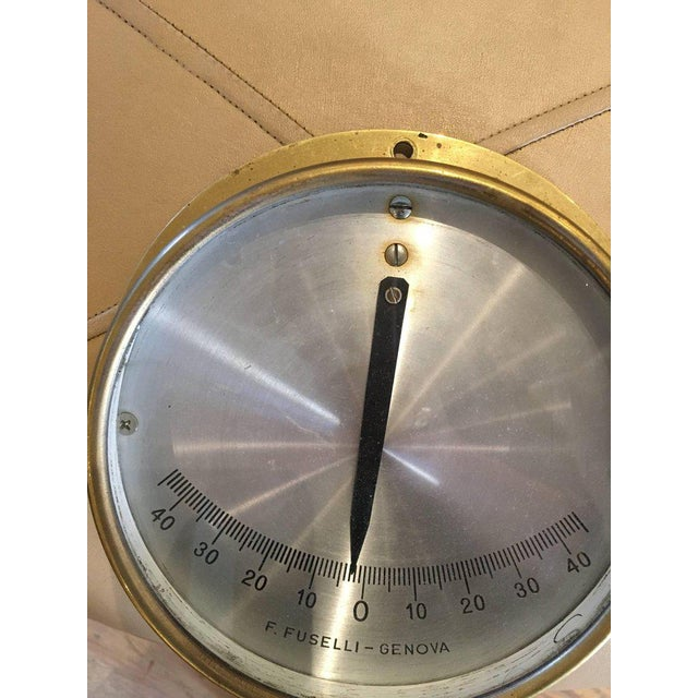 1950s Italian Midcentury Brass Ship's Clinometer For Sale - Image 5 of 7