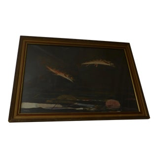 Winslow Homer Signed Jumping Trout Print