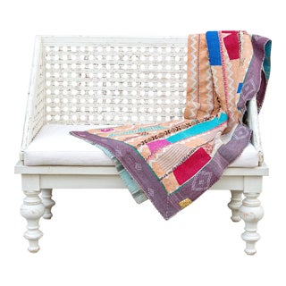 Traditional Bengal Kantha Throw For Sale