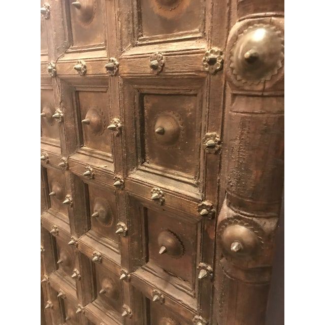 Original Antique Salvaged Hand-Made Indian Doors For Sale - Image 10 of 11