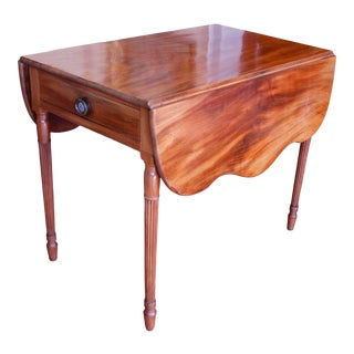 American New England Federal Mahogany Pembroke Table For Sale