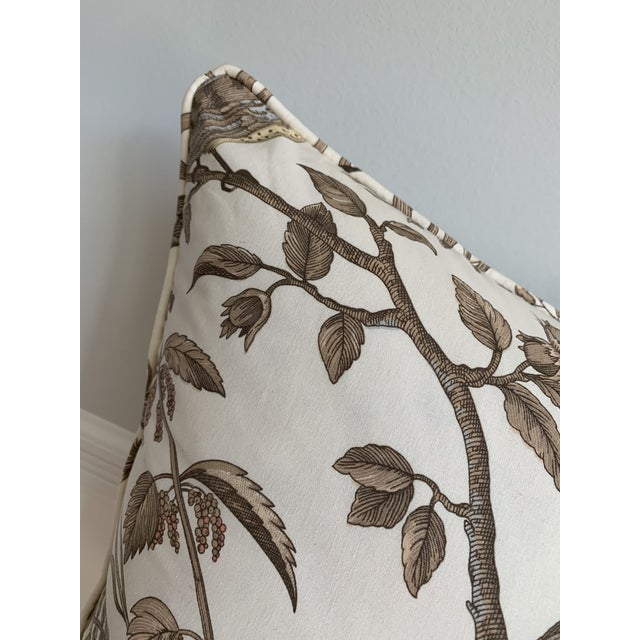 "Brunschwig and Fils Bird and Thistle Pillow - Beige SKU BR- 79431-068 Two available. The details... 22"" x 22"" Self welt..."