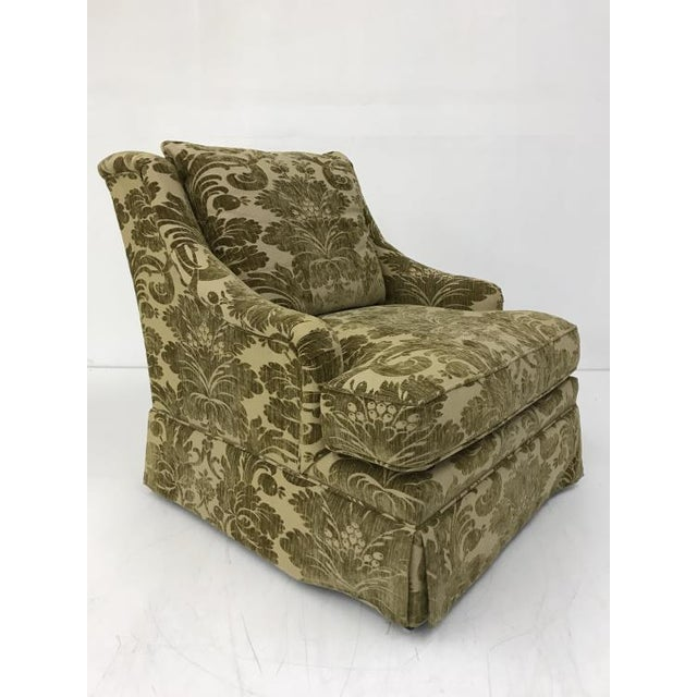 Traditional Century Furniture Portola Skirted Chair For Sale - Image 3 of 5