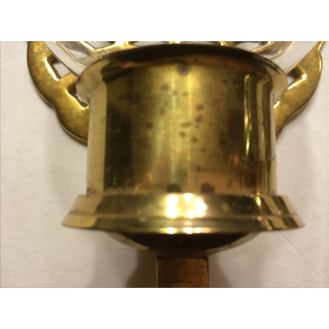 Brass Pineapple Wall Sconce Candleholders - Image 9 of 9
