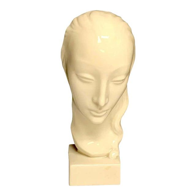 Geza De Vegh for Lenox Art Deco Portrait Bust of a Woman Sculpture For Sale