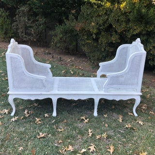 1900s Antique White Caned Chaise Preview