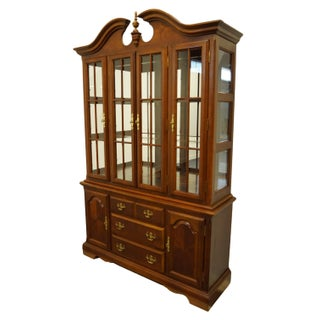 """20th Century Traditional Universal Furniture Cherry 54"""" Buffet With Lighted Display China Cabinet Preview"""