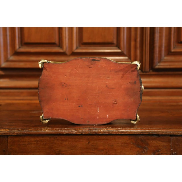 19th Century French Napoleon III Rosewood Planter With Marquetry & Bronze Decor For Sale - Image 9 of 10