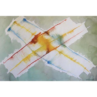 Abstract Watercolor Painting by Jacob Semiatin For Sale