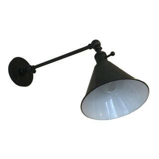 Boston Functional Single Arm Library Light in Bronze For Sale