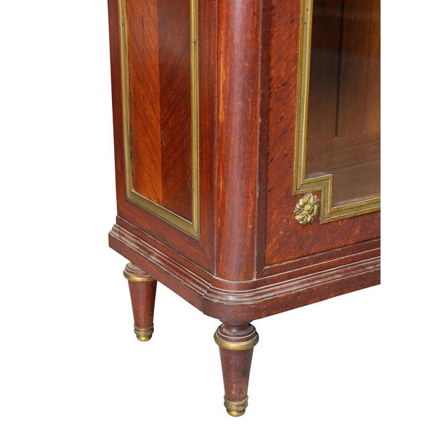 Louis XVI Style Tulipwood and Ormolu-Mounted Petit Cabinet For Sale In Boston - Image 6 of 10