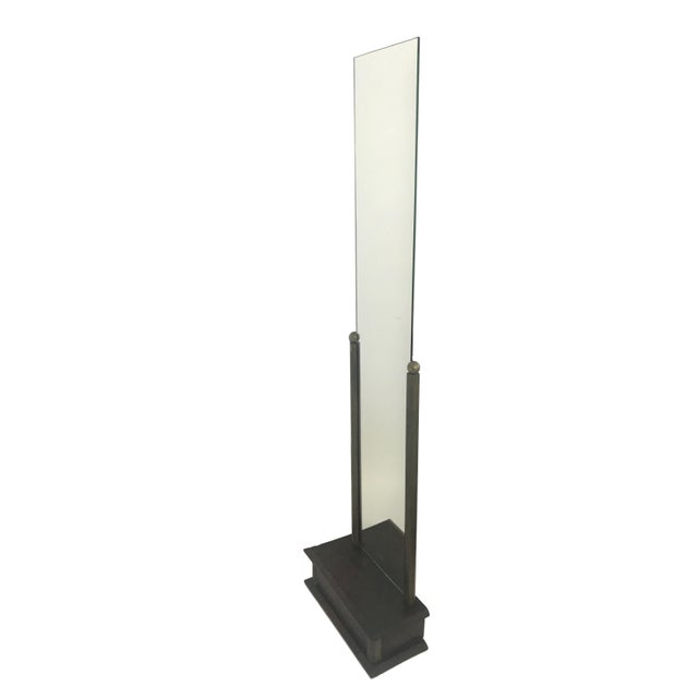 This is a fantastic deco floor length mirror from a Paris boutique. The base is made of wood with nickel corners and two...
