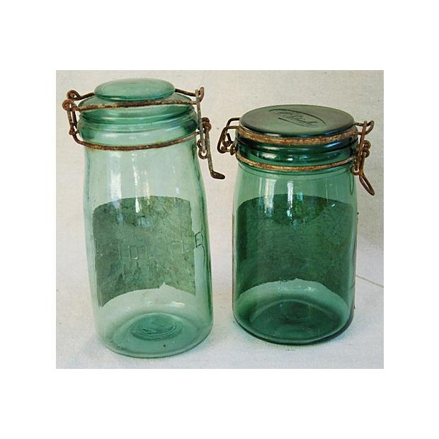 Early 1900s French Preserve Canning Jars - A Pair - Image 4 of 7