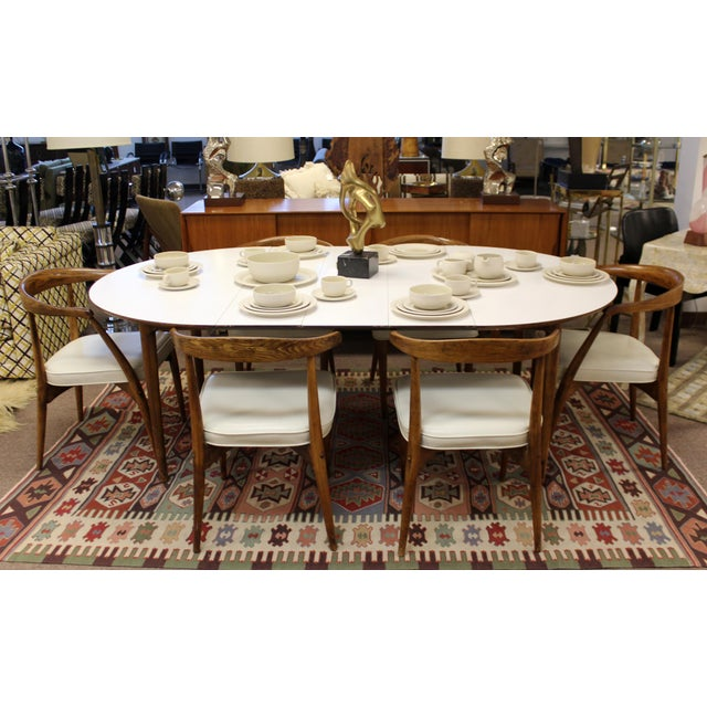 Mid Century Modern Lawrence Peabody Craft Assoc.Dining Table & 6 Side Chairs - Set of 7 For Sale - Image 11 of 13