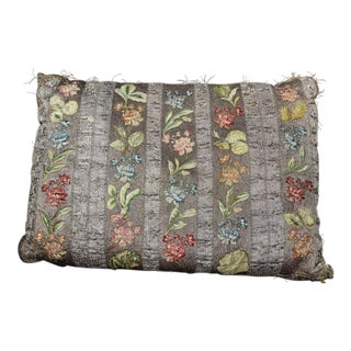 18 C. French or Italian Silk Pillow For Sale