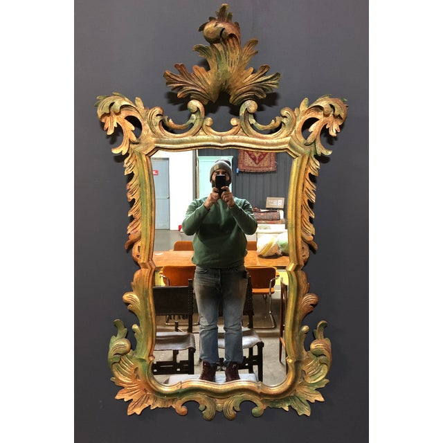 French Antique Gold Gilt Wood Carved Mirror For Sale In New York - Image 6 of 6