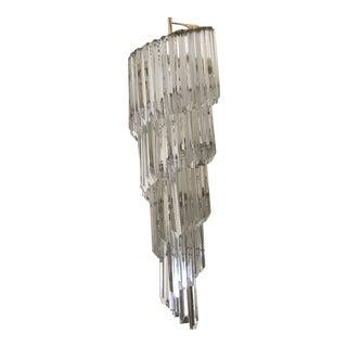 Venini Mid-Century Modern Italian Glass Chandelier For Sale