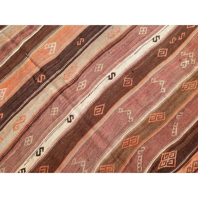 Vintage Turkish Kilim Rug - 5′6″ × 6′11″ - Image 5 of 7