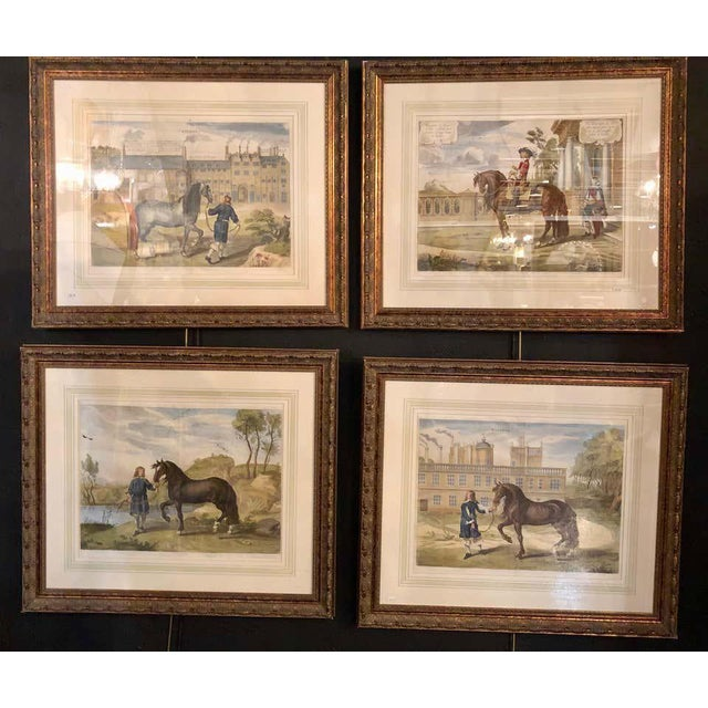 Set of Four Finely Framed and Matted Engravings of English Men on Their Horses For Sale - Image 4 of 13