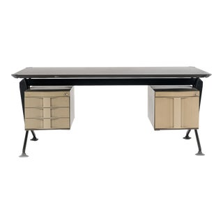 Mid-Century Modern Industrial Arco Series Metal Desk For Sale