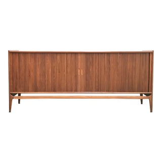 Mid Century Modern Tambour Door Credenza by Richard Thompson for Glenn of California For Sale